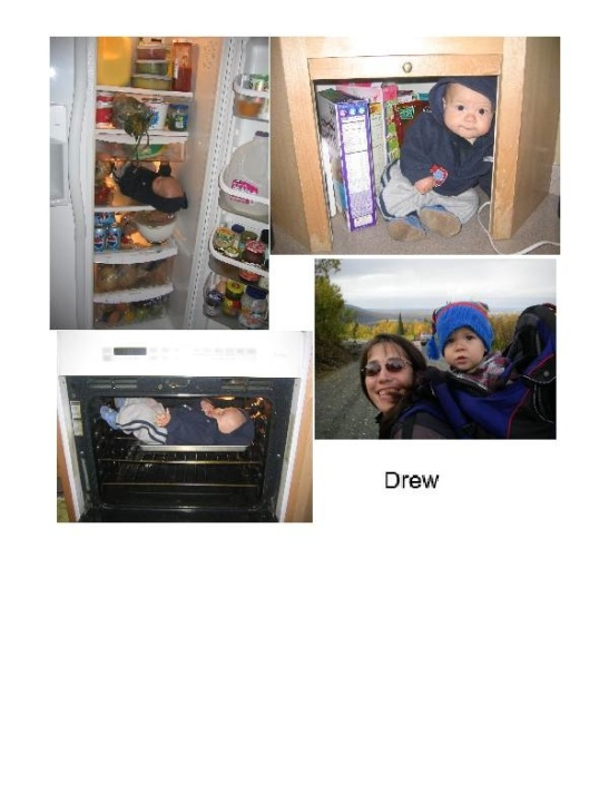 Photos of Drew, staged by Joolee