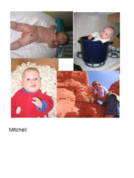 Photos of Mitchell, staged by Joolee